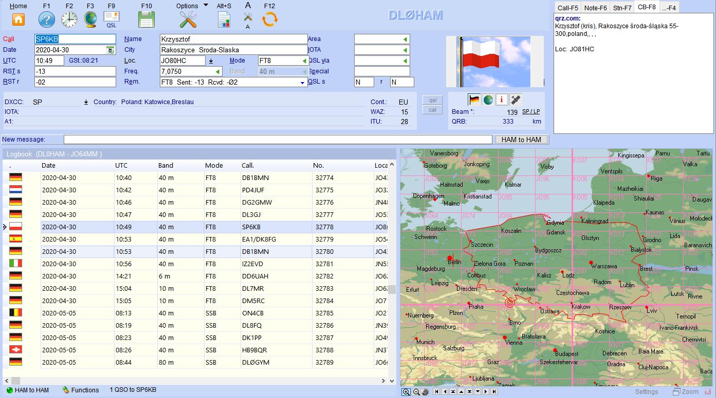 qso input easy view hamoffice my logbook