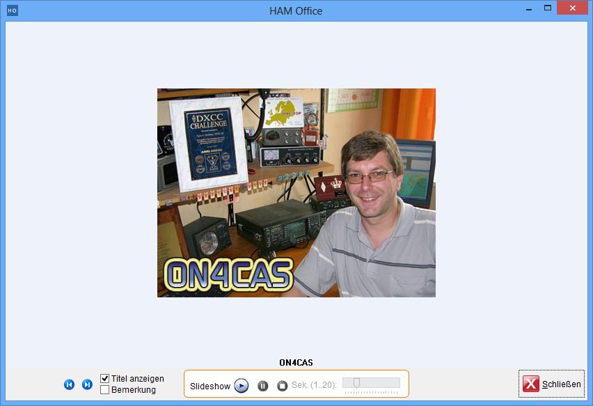 einzelnes QSL-Foto darstellen