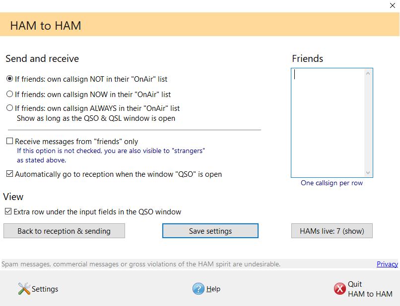 HAM 2 HAM Chat Hamoffice my Amateur radio Logbook