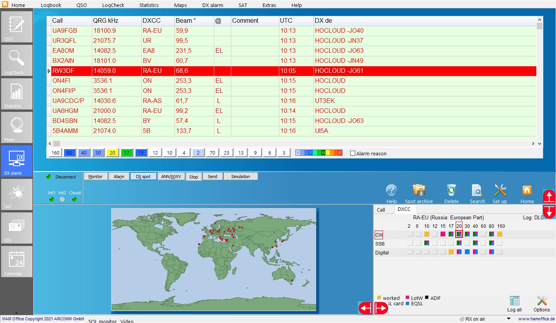 dx-cluster dx-spot-view hamoffice my amateurradio logbook