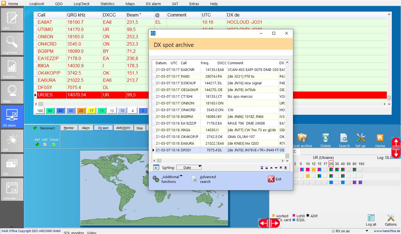 dx-cluster dx-spot-archive hamoffice my amateur radio logbook