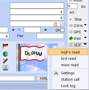 ADIF switch in optionbar