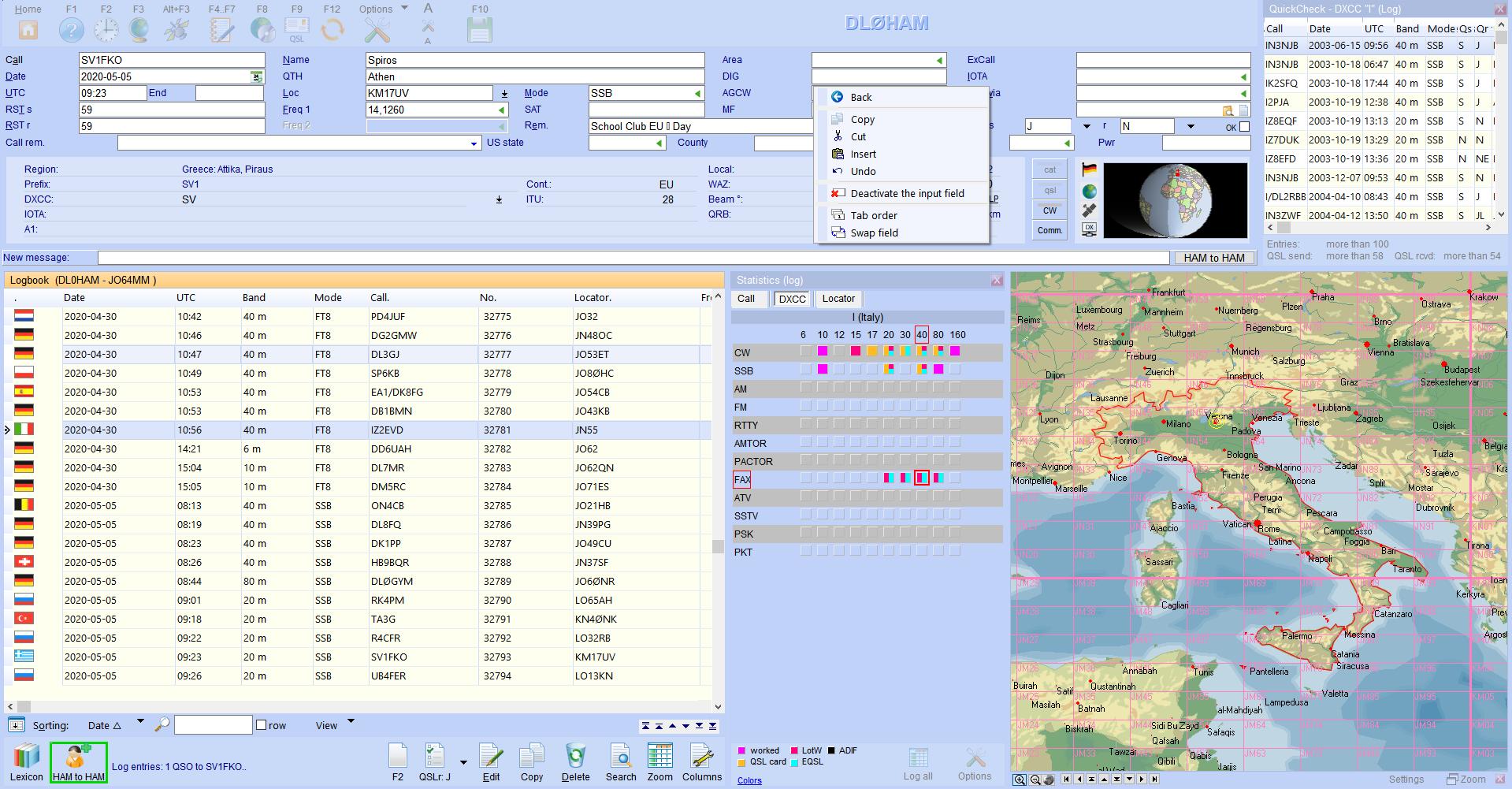 qsoinput menu for fields hamoffice my amateur radio logbook