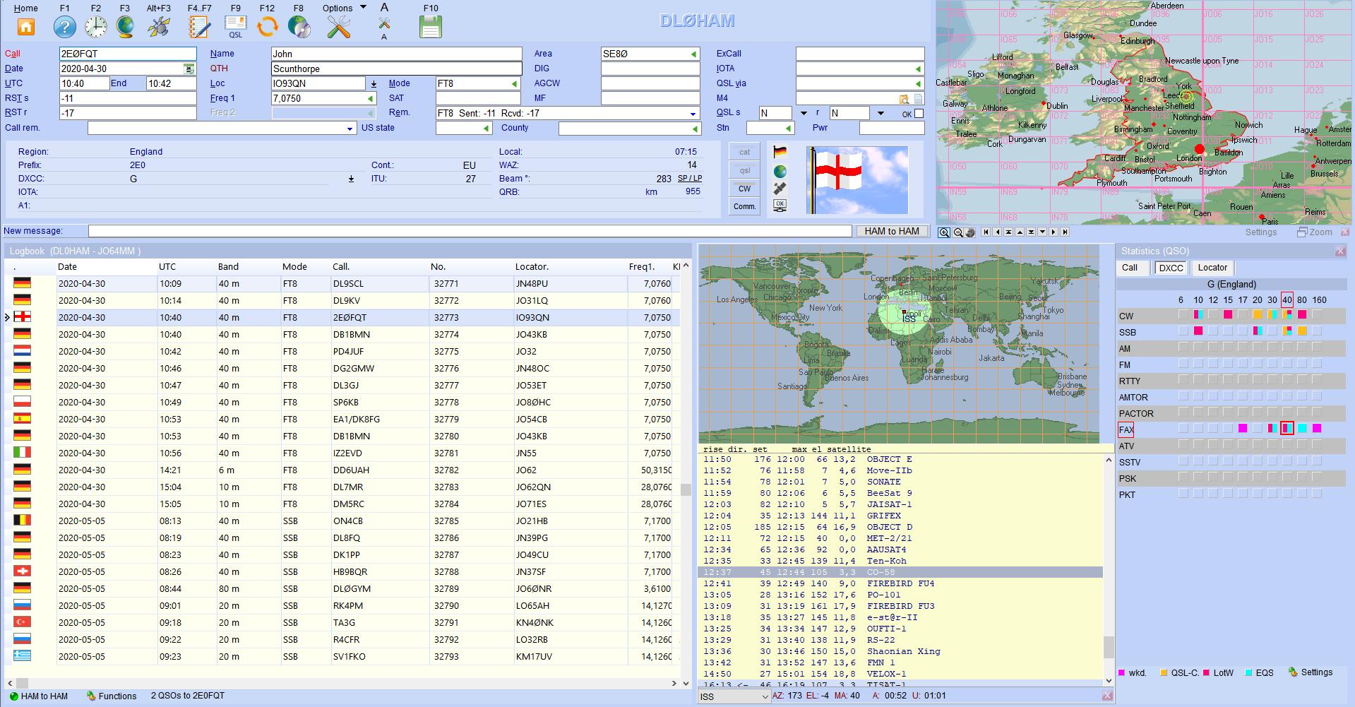 qso-input satellites flags infowindow hamoffice my amateur radio logbook