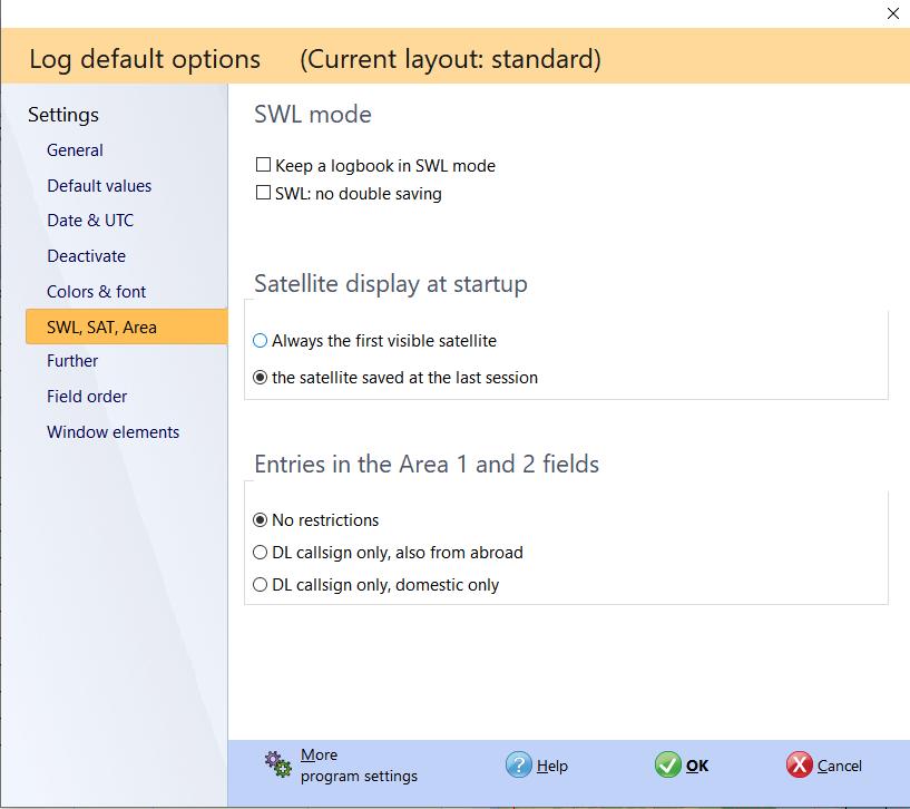 qso input additional settings hamoffice my logbook amateur radio