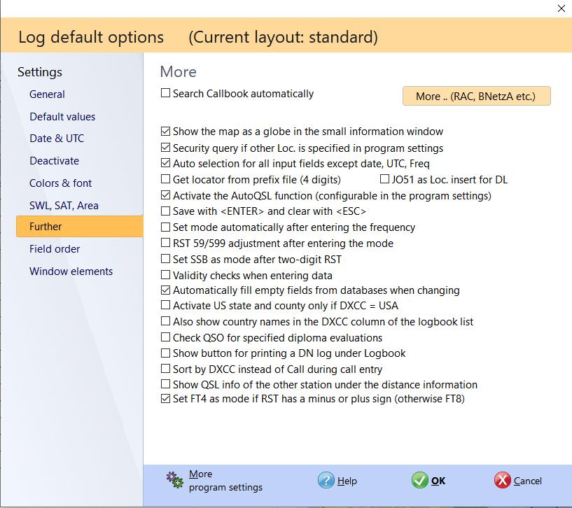 qso input more settings