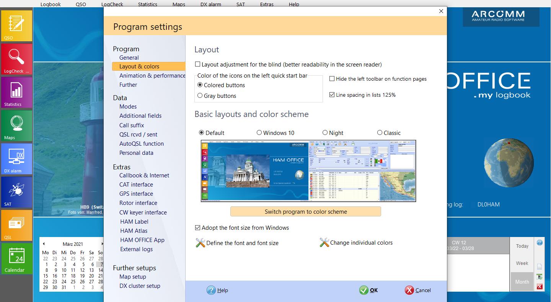 window standard layout hamoffice my logbook