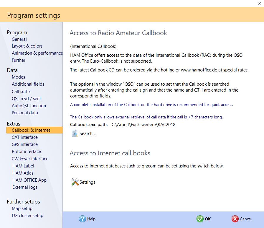 program settings web hamoffice my logbook
